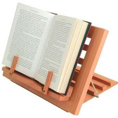 35 Of The Best Book Holders For Reading In Bed, On A Desk, And More Diy Book Holder, Book Holder Stand, Book Stands, Woodworking Projects For Kids, Woodworking Crafts, Wood Projects, Cooking Stand, Custom Wood Furniture, Do It Yourself Crafts