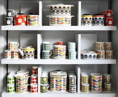 (I am pinning this because I like this photo/organization of an Orla Kiely…