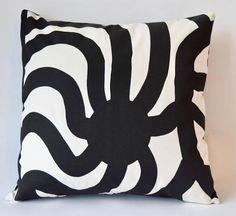 "One of a kind Marimekko Pillow Case Double-sidedPatterns: Keinu and Stilla 16""x16""(40x40cm) by PantsandPillows"