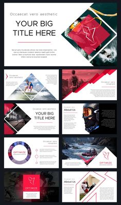 Optimize Modern Powerpoint Template by Thrivisualy on Creative Market - Makeup Products Lipstick Layout Design, Web Layout, Page Design, Design Design, Template Web, Powerpoint Design Templates, Booklet Design, Flyer Template, Modern Powerpoint Design