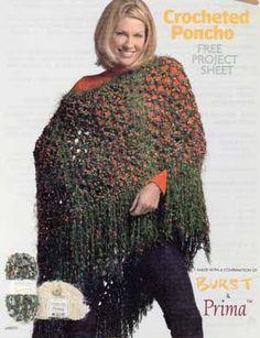 Crocheted Poncho LM0151 | Purple Kitty