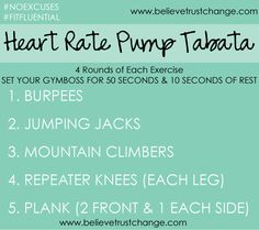 a great #tabata #cardio workout to start your day.