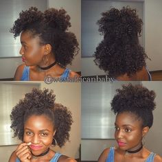 Bantu knot out protective natural hairstyle for kinky hair