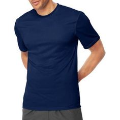 Hanes Sport Big Men's Short Sleeve CoolDri Performance Tee (50+ UPF), Size: 3XL, Blue