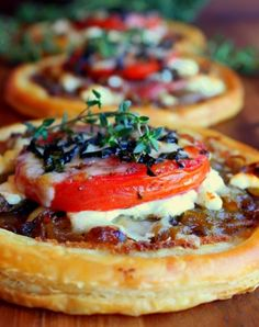 Tomato, Goat Cheese, and Prosciutto Tarts — 8 Ina Garten Appetizers That Are Total Crowd-Pleasers : PureWow Tapas, Quiches, Tart Recipes, Cooking Recipes, Gourmet Food Recipes, Catering Recipes, Wing Recipes, Sauce Recipes, Cheese Tarts