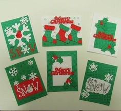 Christmas cards for those who love green and red!