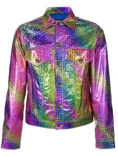 Rainbow Hologram Shirt / Purple-Green-Blue...