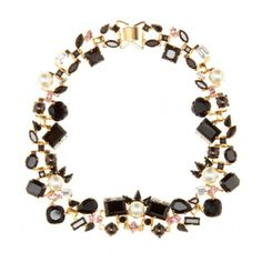 Erdem Exclusive To Mytheresa.Com Gold-Plated Swarovski Crystal And Pearl-Embellished Necklace