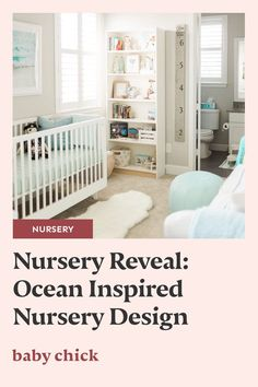 This ocean inspired nursery room design will leave you feeling calm, relaxed & wanting a baby. It's the perfect look for a boy or girls room! #nursery #nurserydesign #oceannurserydesign #boynursery #oceanthemednursery #oceanthemed Ocean Themed Nursery, Nursery Room, Nursery Ideas, Nursery Design, Baby Design, Labor Nurse, Wanting A Baby, Pregnancy Stages, Baby Chicks