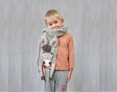 Acrylic donkey, funny scarf, animal scarf, original winter accessory, warm soft, scarves, for kids, beige brown, burro, for animal lovers  Very nice, soft acrylic donkey scarf - with plastic eyes on textile, textile nostrils and hoofs Brown acrylic mane and the end of tail  Length with legs (without stretching): ca 70 (180 cm) Body width (without stretching): 6.3 (16 cm)   Made in a smoke free house.  Ready to ship.   Please check dimensions carefully. Due to lighting conditions and monitor…