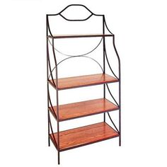 Havana Bakers Rack with Wood Shelves