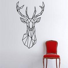 Nordic Deer Head Wall Decal