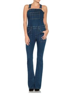 Charlie Flare Overalls via @WhoWhatWear