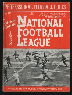 1938 spalding nfl Official Guide