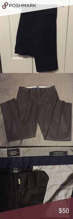 GAP Men's Extreme Slim Fit 34x30 Dress Chinos Like New Without Tags. Black Dress Chinos. Slim Fit. 34x30. Wardrobe Staple. Slim through the Leg. Worn once. Last Season. *photo from GAP website slightly different than actual pants- but looks identical* GAP Pants Chinos & Khakis