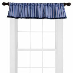 Valance Only: Red, White, Navy and Blue Stripes