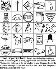Backseat Bingo, Travel Printables, and Camp Kiwi Printable