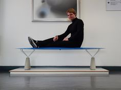 connor holland mimics plastic inflatables in hydroformed steel bench