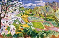 Fruit Trees in Blossom in the Wind, Edvard Munch, 1917-1919.