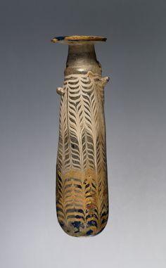Alabastron; Unknown; Olbia (perhaps), Ukraine; 4th - 3rd century B.C.; Glass; 13.3 cm (5 1/4 in.); 2003.187; J. Paul Getty Museum, Los Angeles, California