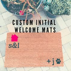 Our custom initial welcome mats make great gifts  for weddings  housewarmings  or just because✌️!