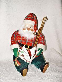 "VTG 1950's Macy's 12"" Plush Santa Doll Music Box ""Santa Claus Is Coming To Town""    eBay"