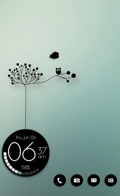 Homescreen. Nova Launcher. Zooper Widget. Black & White. Touch of Green. Andriod. Costum. Mason333.