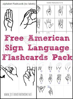 Free Printable ASL Alphabet Flashcards Pack Have you thought about teaching sign language at home? Check out this free printable ASL flashcards pack.Have you thought about teaching sign language at home? Check out this free printable ASL flashcards pack. Sign Language Chart, Sign Language Phrases, Sign Language Alphabet, Sign Language Interpreter, Learn Sign Language Free, Sign Language Games, Sign Language Basics, Sign Language For Toddlers, Number Flashcards