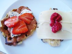 Frokostlapper med Havre, Cottage Cheese og Kanel - Hverdagsluksus! Cottage Cheese, Waffles, French Toast, Breakfast, Food, Blogging, Morning Coffee, Eten, Waffle