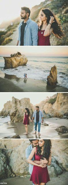 beach love, engagement