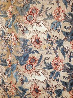 Chintz Whole Cloth Quilt, Early 19th C.