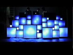 These guys built an amazing DJ light stage
