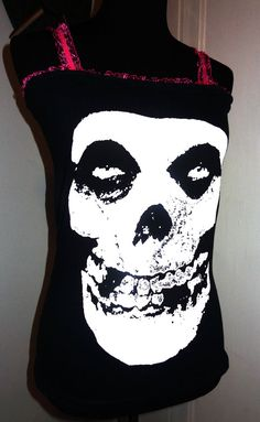 MISFITS band shirt ladies DIY tank top girlie babydoll style fitted top XS S or M