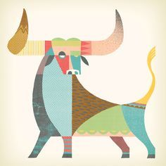 Twelve Signs of the Zodiac - Andrew Holder Sagittarius And Capricorn, Cow Art, Arte Popular, Painting Inspiration, Zodiac Signs, Illustration Art, Creations, Tapestry, Drawings