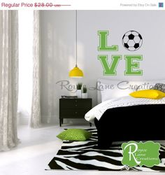 On Sale Soccer Ball Soccer Wall Decal for by RoyceLaneCreations