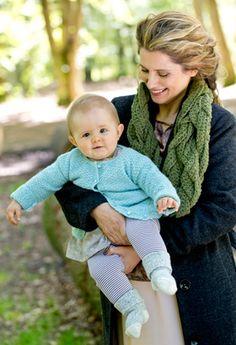 Strik silkeblød babyjakke
