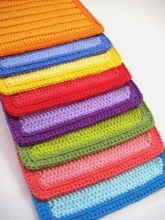 Items similar to Dish Cloths, Crocheted Rainbow Bundle on Etsy, a global handmade and vintage marketplace.