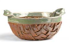 Woven Baskets | Hand Woven Pottery Basket - Homestead Green