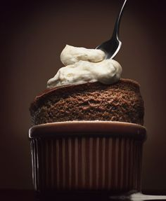 Possibly the yummiest chocolate souffle in the world. Be warned, this will make you hungry...