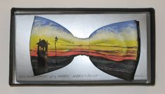 Hopper bowtie by Jack Kirwan - BOWTIE Edward Hopper, Bow Ties, Bows, Hand Painted, Sunset, Artist, Painting, Clothes, Arches