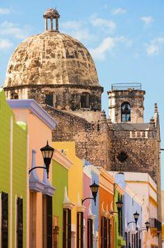 Centro Histórico de Campeche, México.