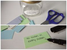 Earlier this year I shared my resolution for which is to be inspired . As part of keeping up with this new and more positive daily a. Dream Jar, Jar Gifts, Projects To Try, Diy, Inspiration, Biblical Inspiration, Gift Jars, Bricolage, Do It Yourself