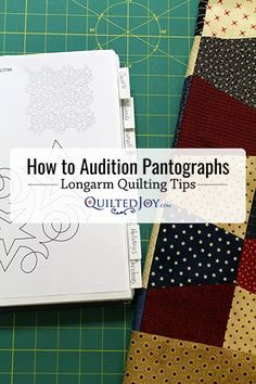 Watch how to audition paper pantographs with this quick longarm quilting tip from Quilted Joy using only a sheet protector, scissors, & a sharpie! Longarm Quilting, Free Motion Quilting, Quilting Tips, Quilting Tutorials, Quilting Projects, Modern Quilting Designs, Machine Quilting Designs, Quilt Designs, Handi Quilter