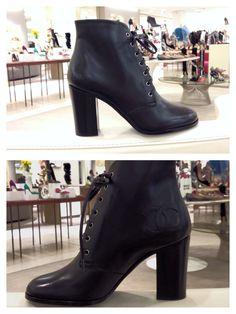 Chanel laced up booties @ Saks 5th Avenue Phipps Plaza Buckhead Ga