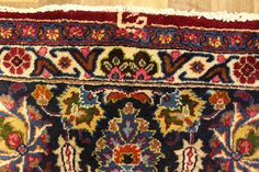 Pattern - Great Persian Mashad rug with a well drawn medallion and fine floral design. The rug is made with very fine lamb's wool in natural dyes. The rug is in excellent condition with uneven wear and low pile.   eBay!