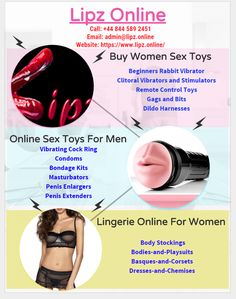 Buy the best quality online sex toys for men and women like Vibrators, Dildos, lingerie, Bondage Gear etc at Lipz.Online. We have wide collection of adult sex toys for him and her at affordable price to fulfill your intimate desires. Visit our store today for attractive offers.