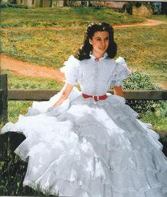 How We Do Run On: Doppelganger Dresses, Part 7: Scarlett's White Ruffled Dress