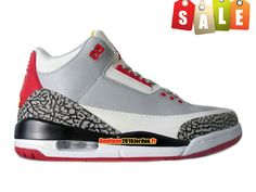 Basket Jordan 3 Retro Pour Homme Gris/Noir pas cher