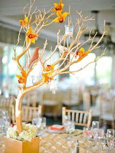 Arbol, centro de mesa, decoracion