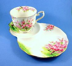 Royal Albert Blossom Time Tea Cup and Saucer Tennis Snack Set